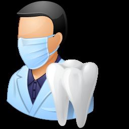 dentist male icon